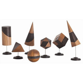 Arteriors Home Geo Wood/Iron Sculptures, Set/7 - Arteriors Home DD2021