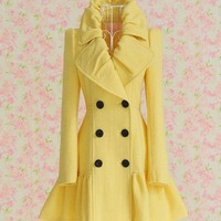 [sold out]  Yellow coat