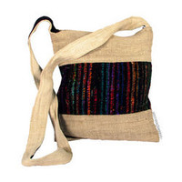 Hemp and Recycled Silk Shoulder Bag on Sale for $21.95 at HippieShop.com
