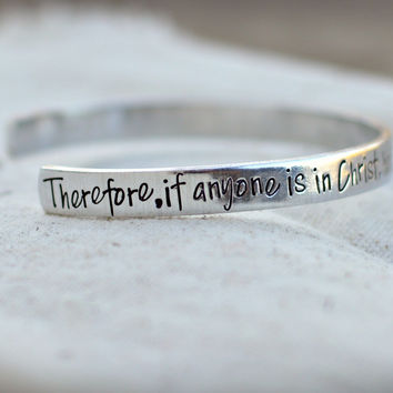Scripture Jewelry - Cuffs - Bible Verse Jewelry cuff bangle bracelet