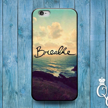 iPhone 4 4s 5 5s 5c 6 6s plus + iPod Touch 4th 5th 6th Generation Cute Quote Phone Case Breathe Ocean Custom Girly Girl Fun Sunset Beautiful
