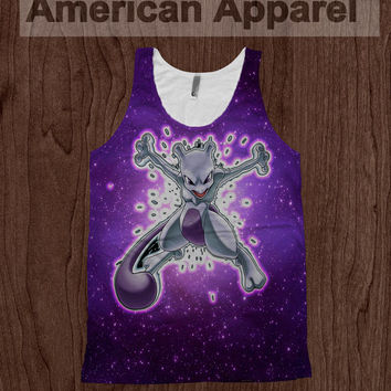 Mewtwo In Space - American Apparel Tank Top Pokemon Dye Sublimation