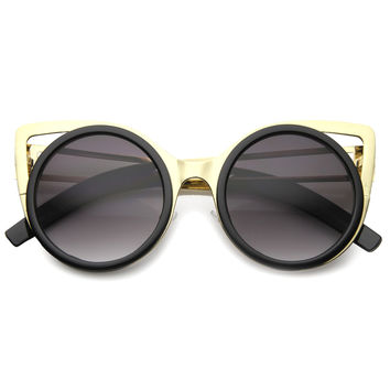 NAYANA METAL CUT CAT EYE SUNGLASSES