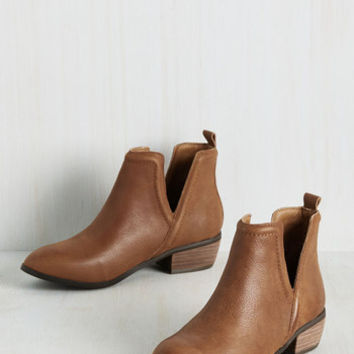 Next Door Nature Leather Bootie in Chestnut | Mod Retro Vintage Boots | ModCloth.com