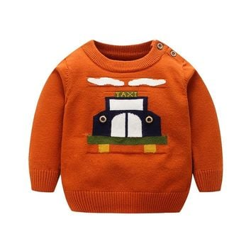 Autumn Winter Toddler Sweaters Pullovers Baby Boys Warm Cotton Knitted Cardigan Clothing Newborn Knitwear