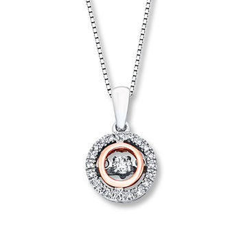 Diamonds in Rhythm 1/6 ct tw Diamonds Sterling Silver/10K Gold