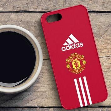 Manchester United Adidas Wallpaper iPhone SE Case | casefantasy