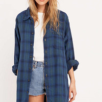 Urban Renewal Vintage Customised - Chemise en flanelle bleue à carreaux - Urban Outfitters