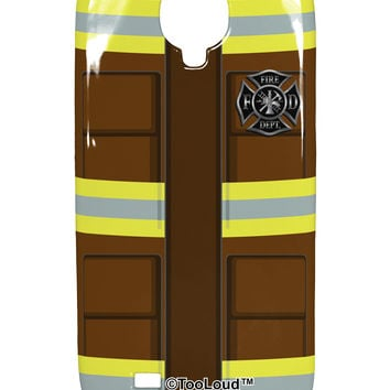Firefighter Brown AOP Samsung Galaxy S4 Plastic Case All Over Print