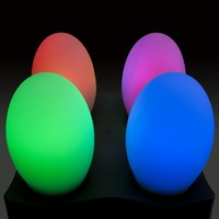 4 Color-Changing Egg Shaped Rechargable Mood Lamps Gift Set