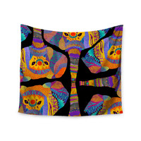 "Pom Graphic Design ""The Elephant In The Room"" Rainbow Tribal Wall Tapestry"