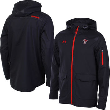 Texas Tech Red Raiders Under Armour 2014 Sideline Win It Woven Full Zip Performance Jacket – Black