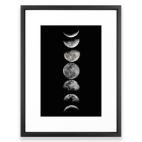 Society6 Phases Of The Moon Framed Print
