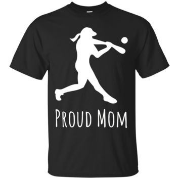 Proud Mom Baseball Softball Hardball Teeball Game Shirt Gift_Black