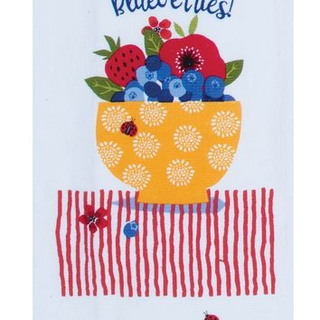 Terry Towel - Summer Vibes Blueberries