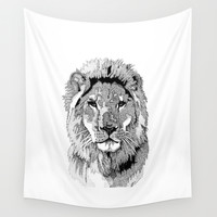 Animal Prints - Proud Lion - By Sharon Cummings Wall Tapestry by Sharon Cummings