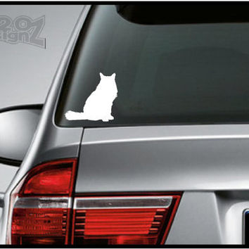 Cat   - Bumper sticker, car decal, Vinyl, Mac decals, Apple Decal, Laptop