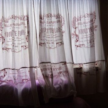 Flour Sack Curtains Special Order by Beysshoes on Etsy