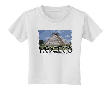 Mexico - Mayan Temple Cut-out Toddler T-Shirt