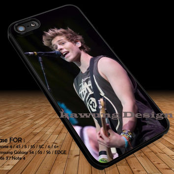 Luke Hemmings on Stage iPhone 6s 6 6s+ 5c 5s Cases Samsung Galaxy s5 s6 Edge+ NOTE 5 4 3 #music #5sos DOP2164