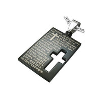 Stainless Steel 2tone Cutout Cross The Lords by UnisexySupplies