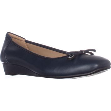 naturalizer Dove Wedge Ballet Flats, Navy Leather, 7 US / 37 EU