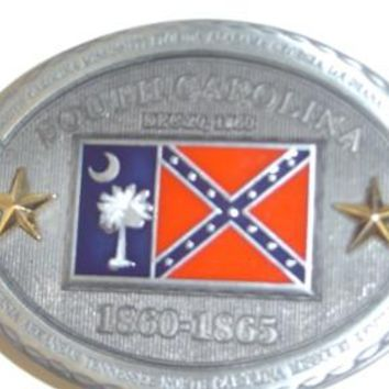 SC Combo Confederate Belt Buckle