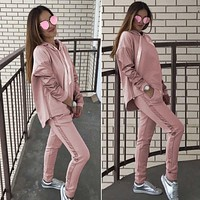 BKLD Women Tracksuit Two Piece Suit Autumn Winter Casual Long Sleeve Hoodies Sweatshirt+Long Pants Set 2018 Fashion Pink Outfits