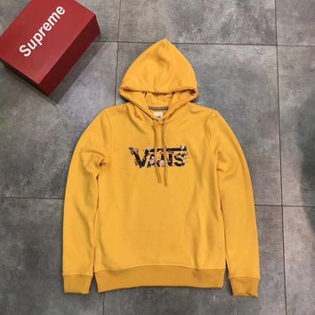 VANS Women Fashion Hooded Top Pullover Sweater Sweatshirt