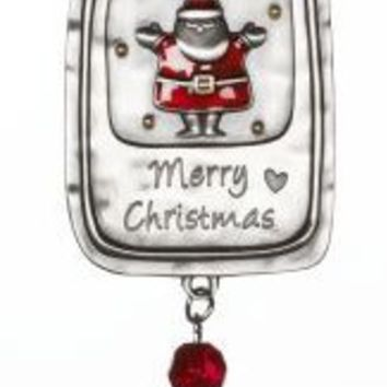 Merry Christmas Santa Car Charm