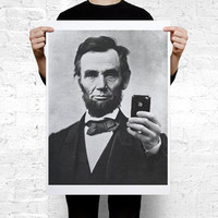 Abraham Lincoln iPhone Large Wall Art Print Poster A2