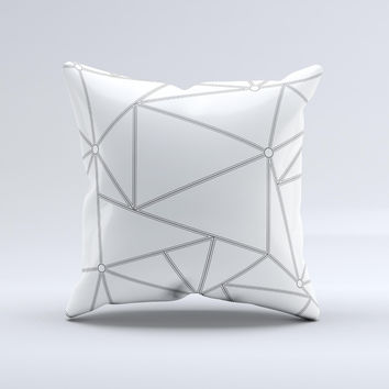 The Simple Connect ink-Fuzed Decorative Throw Pillow