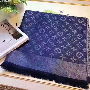 LV fashionable men's and women's casual jacquard multi-color shawl scarf