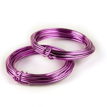 Aluminum Florist Wire, Assorted Colors, 12 Gauge, 5 Yds, 2 Pack (Bright Pink)