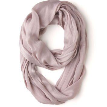 ModCloth Pastel Brighten Up Circle Scarf in Mauve