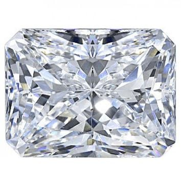 Diamond Veneer Cubic Zirconia Intensely Radiant Emerald Shape Loose Stone