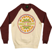 Beatles Men's  Sgt. Pepper Drum Sweatshirt Red/White Rockabilia