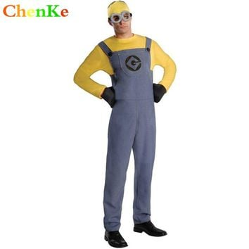 ChenKe Women&Man Anime Minions Cosplay Costume  Girl&Male Cartoon Mascot Party Fancy Adult