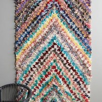 Woven Chevron Boucharouette Wall Art by Anthropologie Assorted One Size Wall Decor