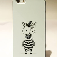 Cute Cartoon Zebra Hard Cover Case For Iphone 5