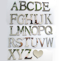 2016 New Acrylic Mirror 3D DIY wall stickers stickers English letters home decoration free shipping creative personality Special