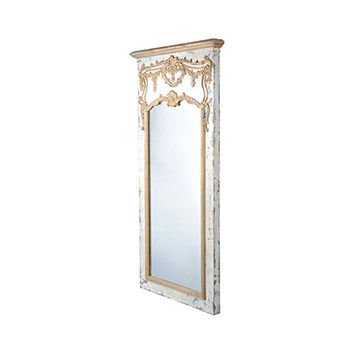 Giltwood Mirror in Antique White
