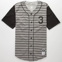 Adidas Hey Nomah Mens Baseball Jersey Heather Grey  In Sizes