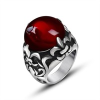 Gift Stylish Shiny Jewelry New Arrival Couple Strong Character Fashion Accessory Ring [6542652291]