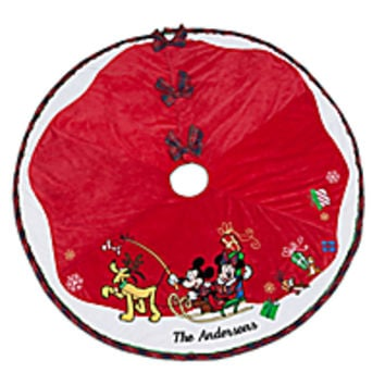 mickey mouse and friends tree skirt personalizable disney store