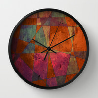 Baroque Cubism Wall Clock by Tony Vazquez
