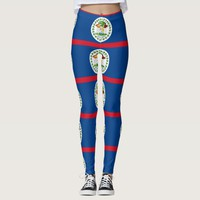 Leggings with flag of Belize
