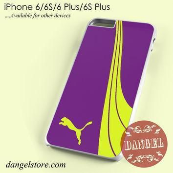 fancy purple yellow puma phone case for iphone 6 6s 6 plus 6s plus  number 1