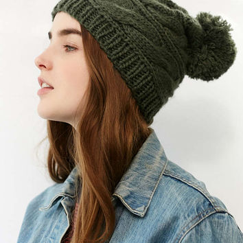 The North Face Triple Cable Pompom Beanie - Urban Outfitters