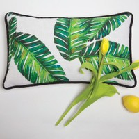 Botanical Leaf Pillow